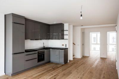 Abbildung: Maisonette-Wohnung mit Einbauküche